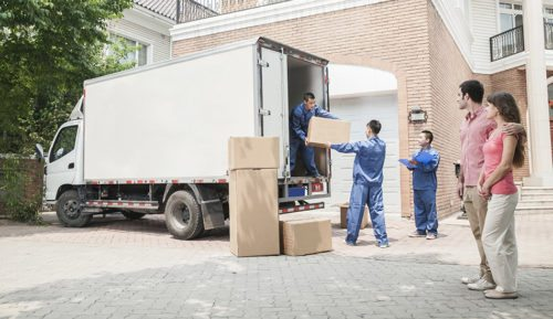 Loading the truck when moving abroad
