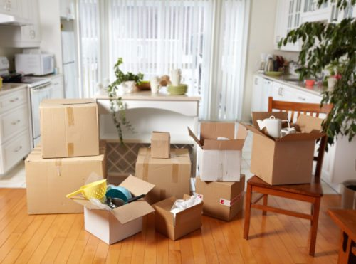 Moving boxes provided by moving companies
