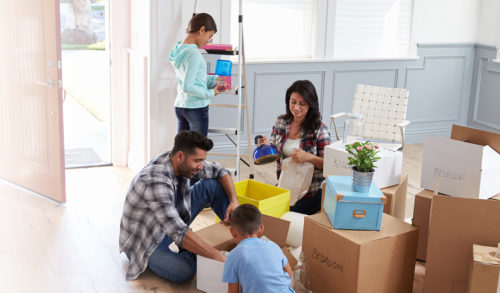 Family moving in; moving house made easier with movers
