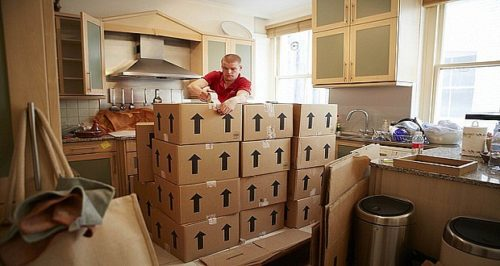 Packing up boxes; removal companies Dublin