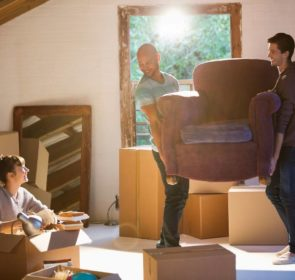 Friends helping out with packing, loading, and moving
