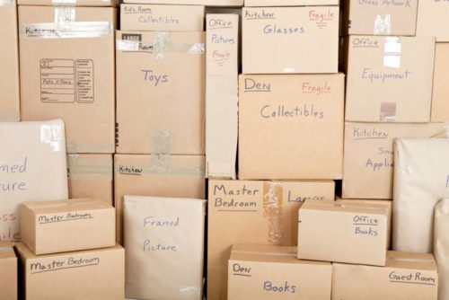 Cardboard boxes are one of many types of packing supplies