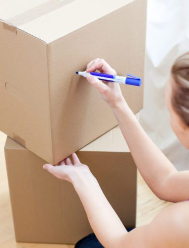 Labelling boxes is also one of several moving house tips you should follow