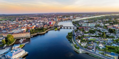 Aerial view of Limerick - man with a van Limerick