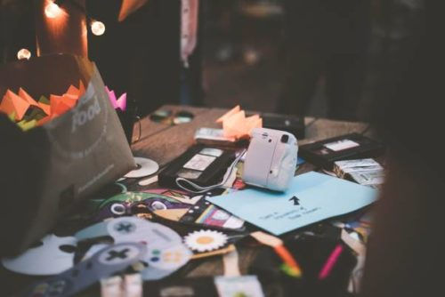 Clutter on a desk